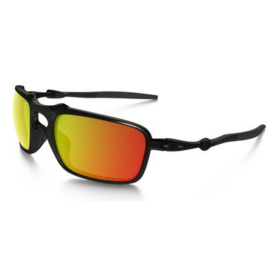 Oakley Badman OO602003 6021 - Dark Carbon/Ruby Iridium Polarized,OAKLEY