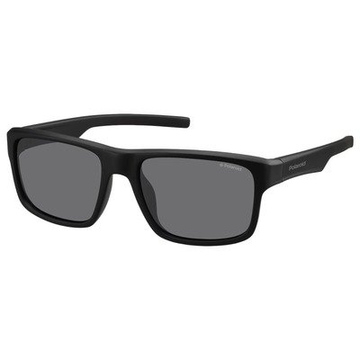Polaroid PLD3018S DL5 Y2 55 Contemporary - Matte Black/Gray Polarized,POLAROID