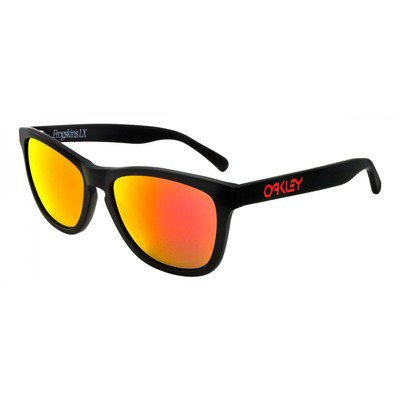 Oakley Frogskins LX OO2043-02 56 - Matte Black W/Ruby Iridium,OAKLEY