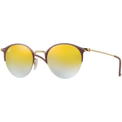 Ray-Ban RB3578 9011A7 50 Round - Light Brown-Gold/Green Gradient Mirror,Ray-Ban