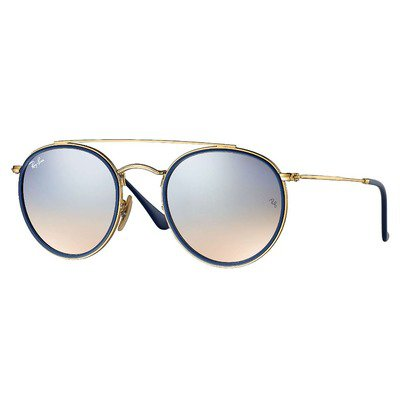 Ray-Ban RB3647N 001/9U 51 Round - Gold/Silver Gradient Flash,Ray-Ban