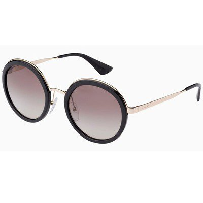 Prada PR50TS 1AB6E1 54 - Black/Brown Gradient Polarized,PRADA