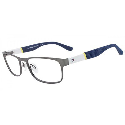 Tommy Hilfiger TH1284 FO5 55 Prata-White/Blue,TOMMY HILFIGER