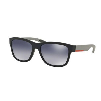 Prada Linea Rossa PS03QS UR73A0 57 - Blue Rubber/Light Grey Gradient Mirror,PRADA LINEA ROSSA