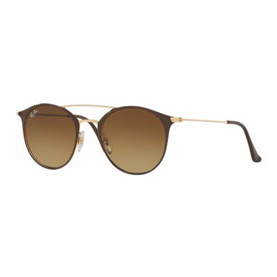 Ray-Ban RB3546 900985 52 Round - Gold Top Brown/Brown Gradiente,