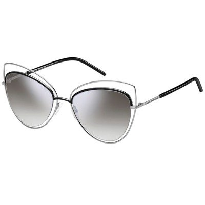 Marc Jacobs MARC 8/S 25K FU 56 - Black-Silver/Grey Mirror,MARC JACOBS