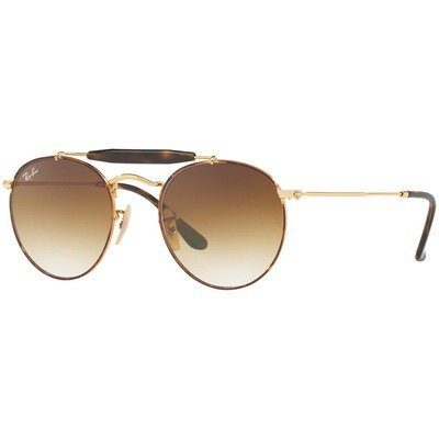 Ray-Ban RB3747 900851 50 Round - Tortoise-Gold/Light Brown Gradient,Ray-Ban