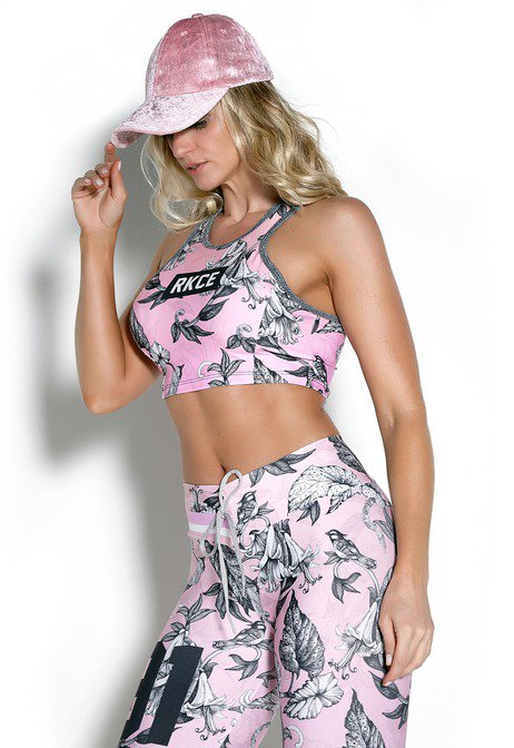 Top Cropped Pink Ice