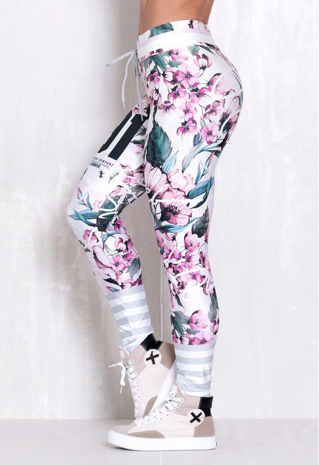 Legging Elastic Soft Flowers