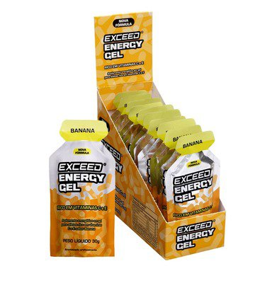Exceed Energy Gel - Banana - 10 Sachês de 30g